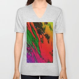 Jagged Unisex V-Neck