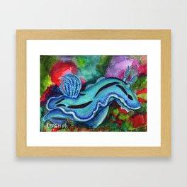 Squishy Cute Sea Creature Art by Laurie Leigh Framed Art Print