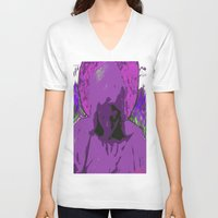 halo V-neck T-shirts featuring Halo purple by Mylittleradical