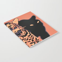 Retro vintage Munich Zoo big cats Notebook