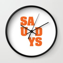 """Saturdays' tee design. Perfect for weekend lovers like you! Makes a nice gift too!  Wall Clock"