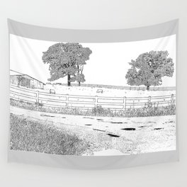 wet country scene Wall Tapestry