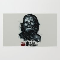 che Area & Throw Rugs featuring CHE-wbacca by Carlos Rocafort