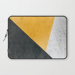Modern Yellow & Black Geometric Laptop Sleeve