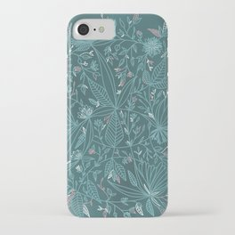 Floral Weave Teal iPhone Case