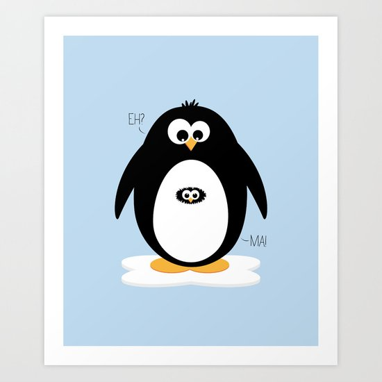 Penguin-egg  Art Print