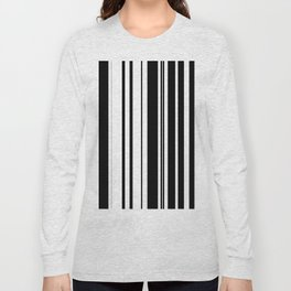 Black and white stripes 1 Long Sleeve T-shirt