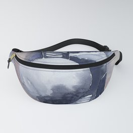 Pink blue watercolor abstract  Fanny Pack