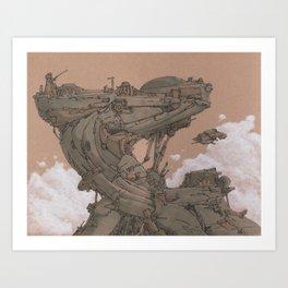 Aerial Station One Art Print