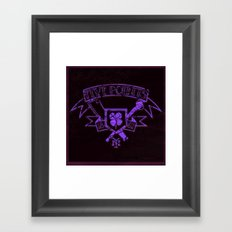 Copper: Five Points Coat of Arms Framed Art Print