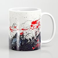 sin city Mugs featuring Cosmos shower (Sin City inspired) by Alejandro Polania