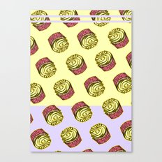 Cupcake Pattern Canvas Print