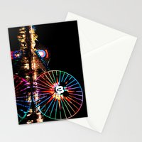 Paradise Pier at Night Stationery Cards
