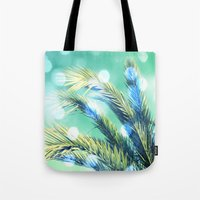palm Tote Bags featuring palm by laika in cosmos
