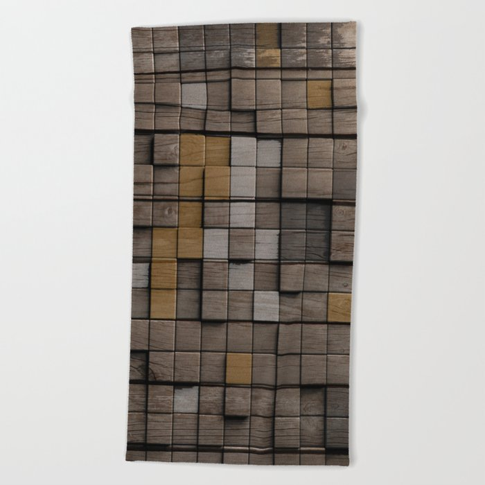 Wood pattern Beach Towel