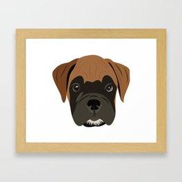 Boxer Love Framed Art Print