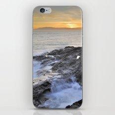 Orange sunset at the sea iPhone & iPod Skin