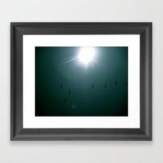 Birds in Blue Sky Framed Art Print