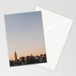 USA Photography - Sunset In New York City Stationery Cards