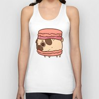 macaron Tank Tops featuring Puglie Macaron by Puglie Pug