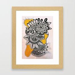 BLK+YLO Framed Art Print