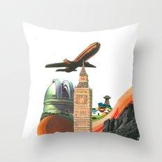 Leaving MoMo City Throw Pillow