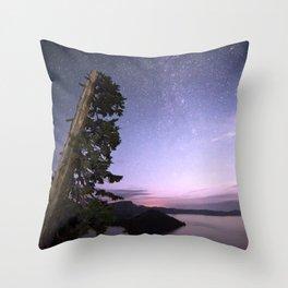Crater Lake Glow Throw Pillow