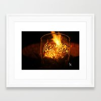 coca cola Framed Art Prints featuring Coca Cola by CharlieRae