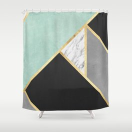 Gold collage IX Shower Curtain