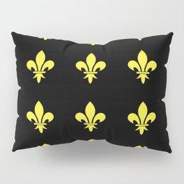 Fleur de lys 4-lis,lily,monarchy,king,queen,monarquia. Pillow Sham