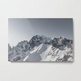 Mountain peaks - Mont Blanc serie 5 - Alps Metal Print
