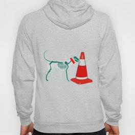 DOG SNIFING TRAFFIC RUBBER CONE Hoody