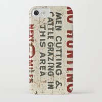hunting iPhone & iPod Cases featuring No Hunting! by Bruce Stanfield