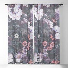 Midnight Garden XXI Sheer Curtain
