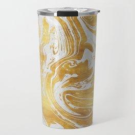 White Dragon Marble Travel Mug