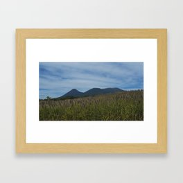 View To The Volcanoes. Framed Art Print