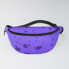 Large blueberry drops and petals on a light background in nacre. Fanny Pack