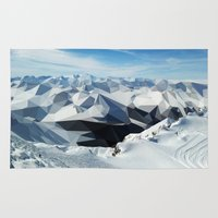 low poly Area & Throw Rugs featuring low poly mountains by tony tudor