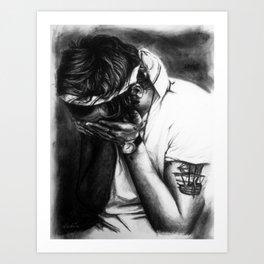 Charcoal Harry Art Print