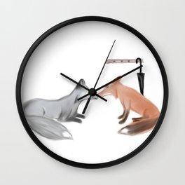 Fox!Mystrade Wall Clock