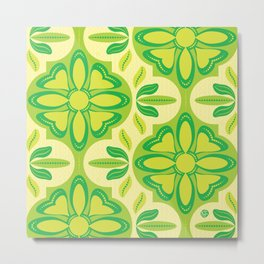 Swiss Chalet - Citrus (pattern) Metal Print