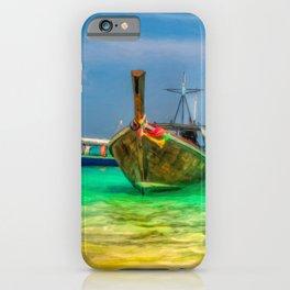 Thai Longboats Art iPhone Case