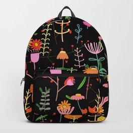 Colorful spring flower pattern nursery Backpack