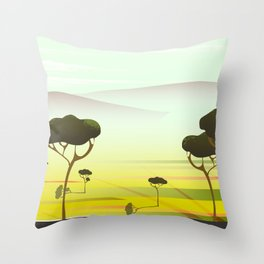 South Africa Throw Pillow