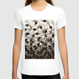 Marble Cubes - Black and White T-shirt