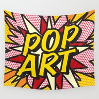 comic book Wall Tapestries featuring Comic Book POP ART by The Image Zone