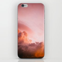 Beautiful Pink Orange Fluffy Sunset Clouds Cotton Candy Texture Sky iPhone Skin
