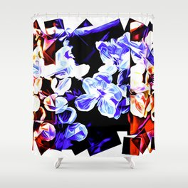 Blossoms In Square Colors Shower Curtain