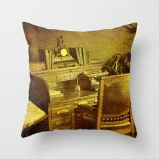 Grandpa's Desk Throw Pillow