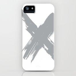 cross gray #2 iPhone Case